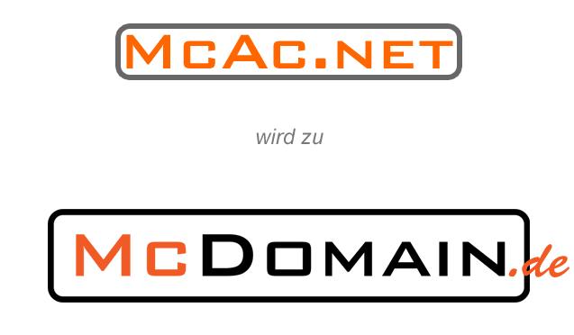McAc.net wird zu McDomain.de